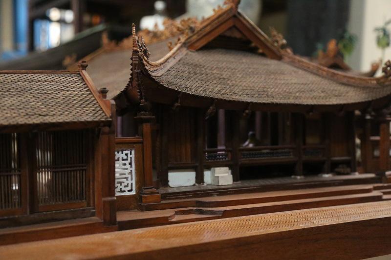 Ngắm nhìn mô hình đình làng hơn 300 năm siêu nhỏ của nghệ nhân Hà Nội - Ảnh 8.