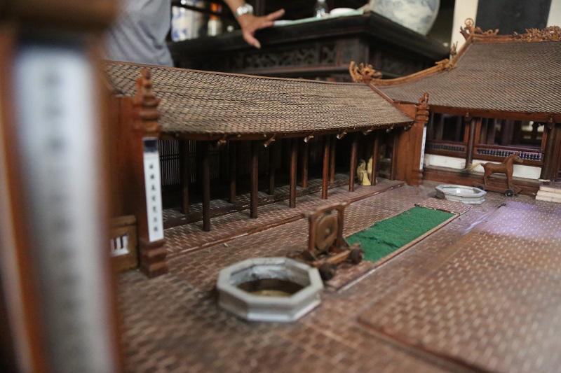 Ngắm nhìn mô hình đình làng hơn 300 năm siêu nhỏ của nghệ nhân Hà Nội - Ảnh 10.