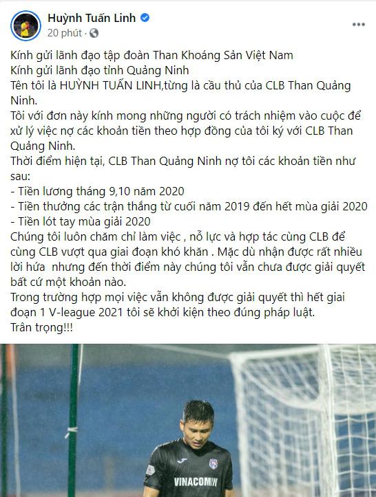2 ngôi sao của HAGL dọa kiện Than Quảng Ninh, đòi hàng tỷ đồng - Ảnh 1.