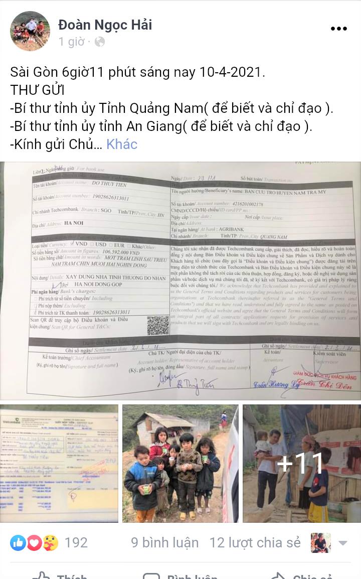 Quảng Nam: Huyện Nam Trà My sẽ trả lại tiền cho ông Đoàn Ngọc Hải  - Ảnh 1.