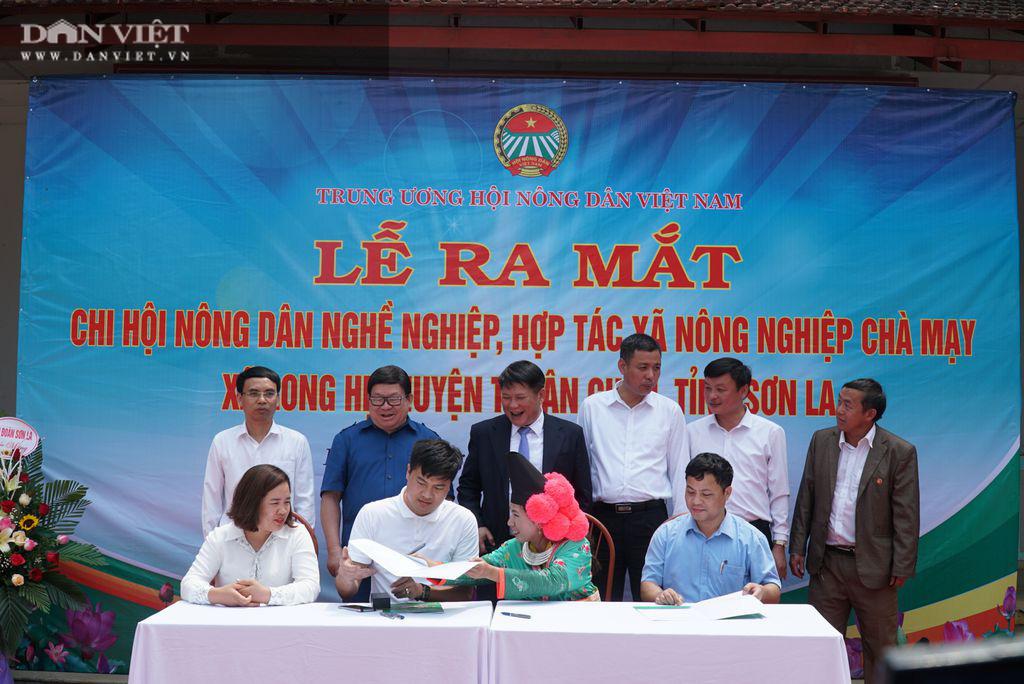 Chủ tịch Hội Nông dân Việt Nam dự lễ ra mắt chi hội ND nghề nghiệp ở xã đặc biệt khó khăn tại Sơn La - Ảnh 4.