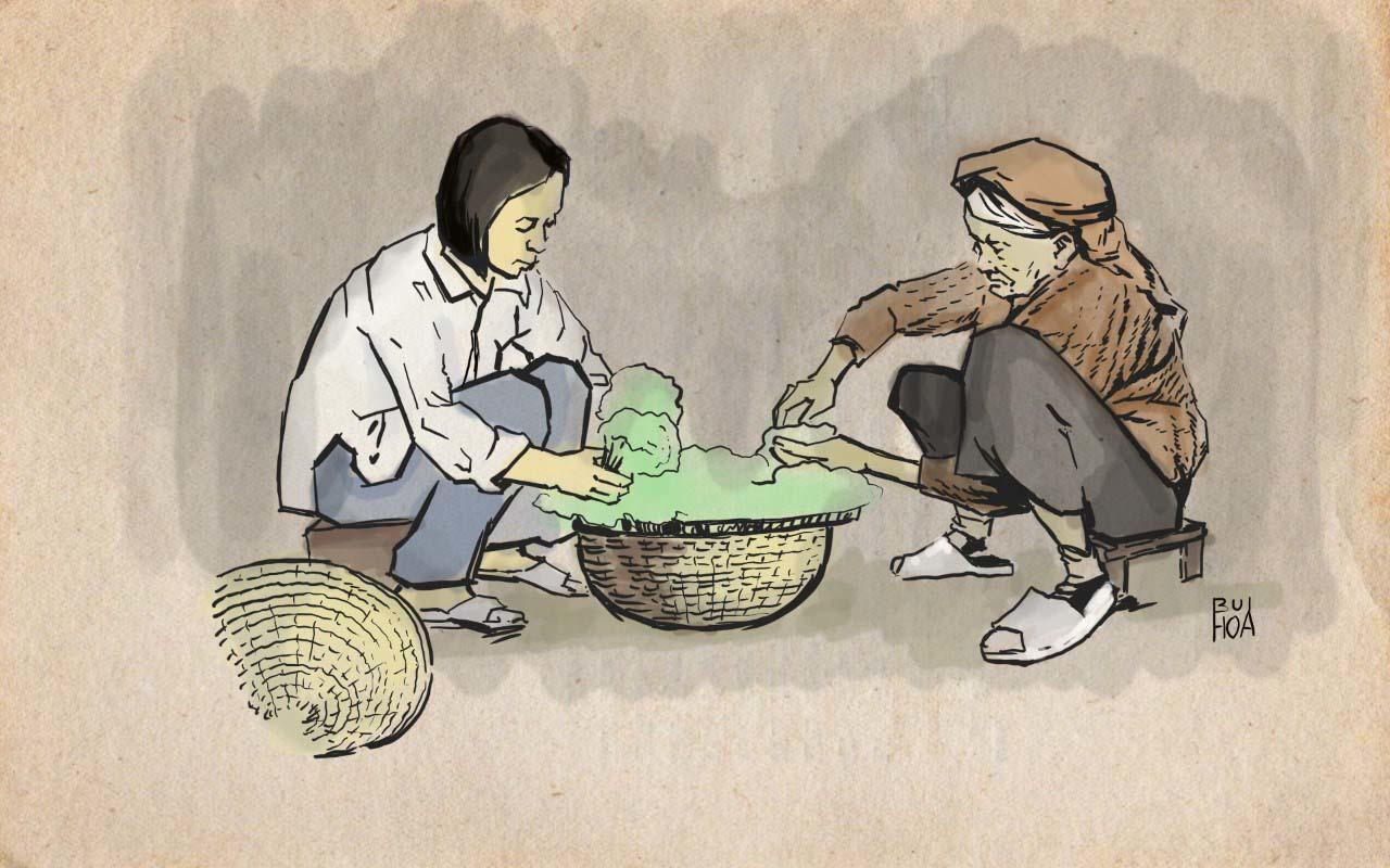 """Tranh minh hoạ truyện ngắn dự thi """"Chốn riêng"""" của nhà văn Hồ Thị Ngọc Hoài"""" - Hoạ sĩ Bùi Tiến Hoà."""