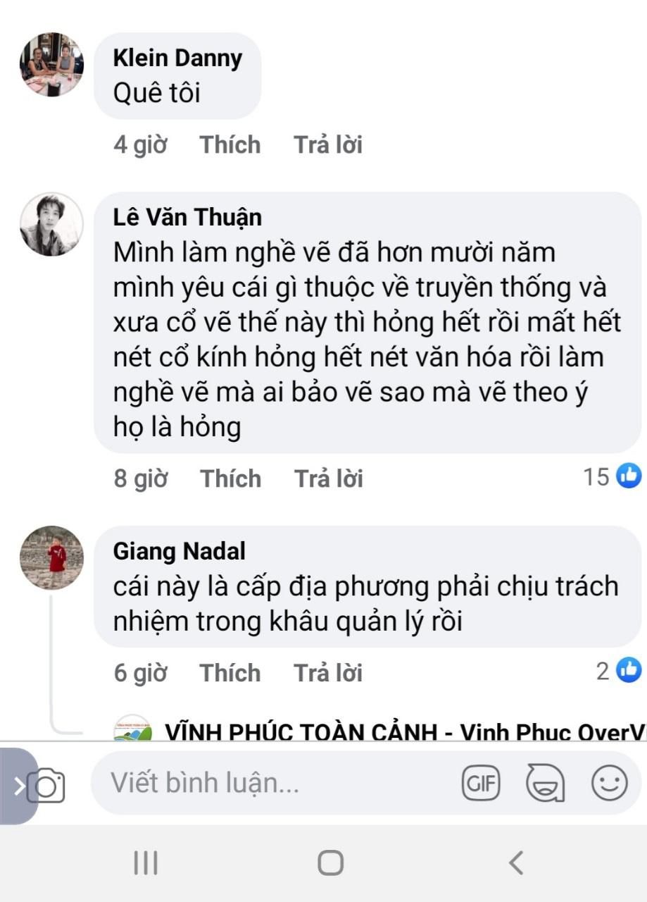 """Vĩnh Phúc: Đình Tiên Lữ bị """"thay áo mới"""" khiến cư dân mạng bức xúc - Ảnh 5."""