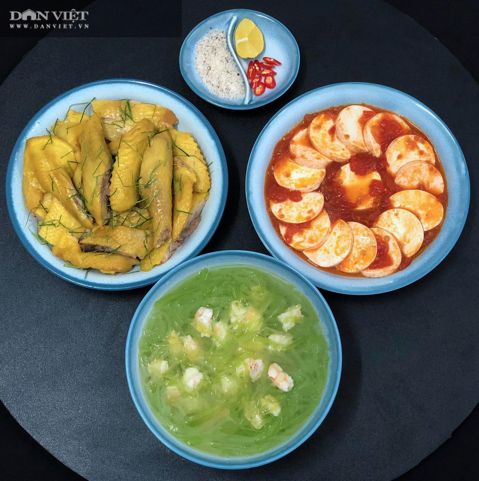 Mẹ đảm Hà thành gợi ý thực đơn cơm nhà đẹp mắt, đủ dinh dưỡng - Ảnh 2.