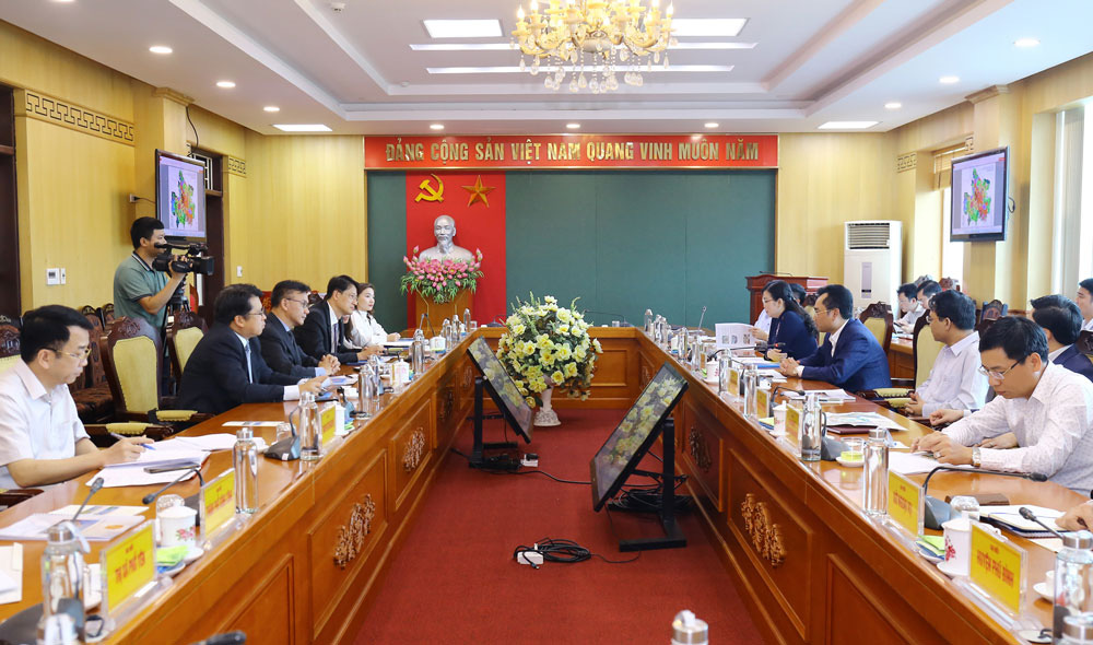 Thái Nguyên: Công ty Phú Mỹ Hưng tìm kiếm cơ hội hợp tác đầu tư tại tỉnh - Ảnh 1.