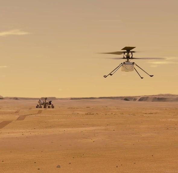 Chuyến bay lịch sử của chiếc trực thăng NASA thám hiểm sao Hỏa đã thành công - Ảnh 3.