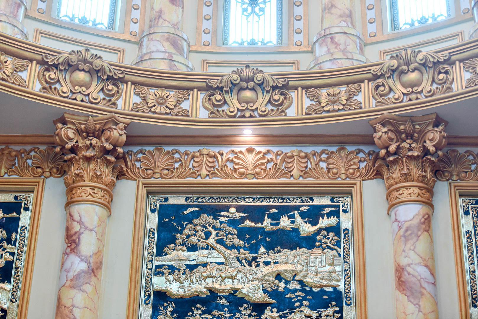 """Lâu đài """"dát vàng"""", bên trong toàn nội thất đắt đỏ của đại gia ở Hưng Yên - Ảnh 8."""