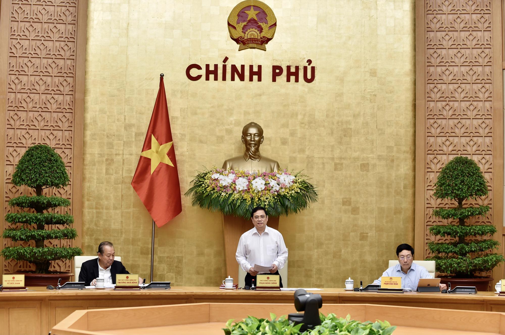 Thủ tướng Phạm Minh Chính chủ trì phiên họp Chính phủ đầu tiên sau khi nhân sự được kiện toàn - Ảnh 1.