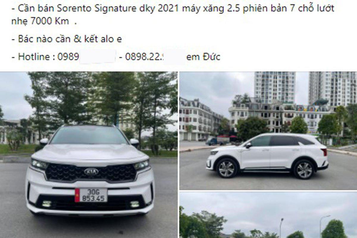 Hàng loạt xe Kia Sorento 2021 mới chạy vài nghìn km đã rao bán ngỡ ngàng - Ảnh 2.