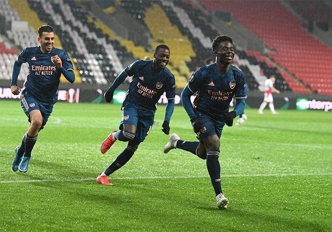 Arsenal đè bẹp Slavia Praha, HLV Arteta chỉ ra bí quyết thành công - Ảnh 1.
