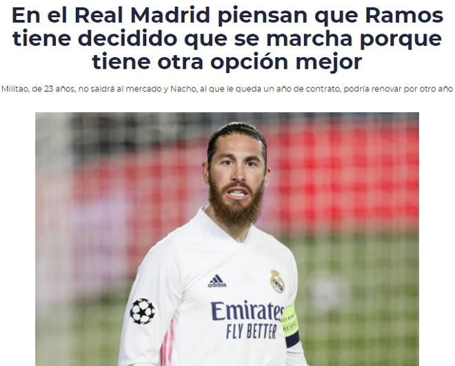 """Sergio Ramos sắp chia tay Real Madrid: """"Anh Tư"""" ra đi là... bình thường - Ảnh 1."""