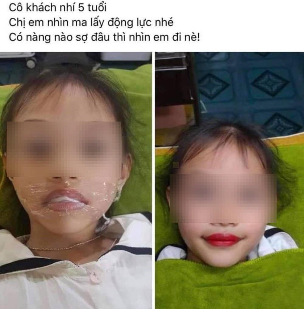 """""""Choáng"""" với bé gái 5 tuổi đã xăm môi - Ảnh 1."""