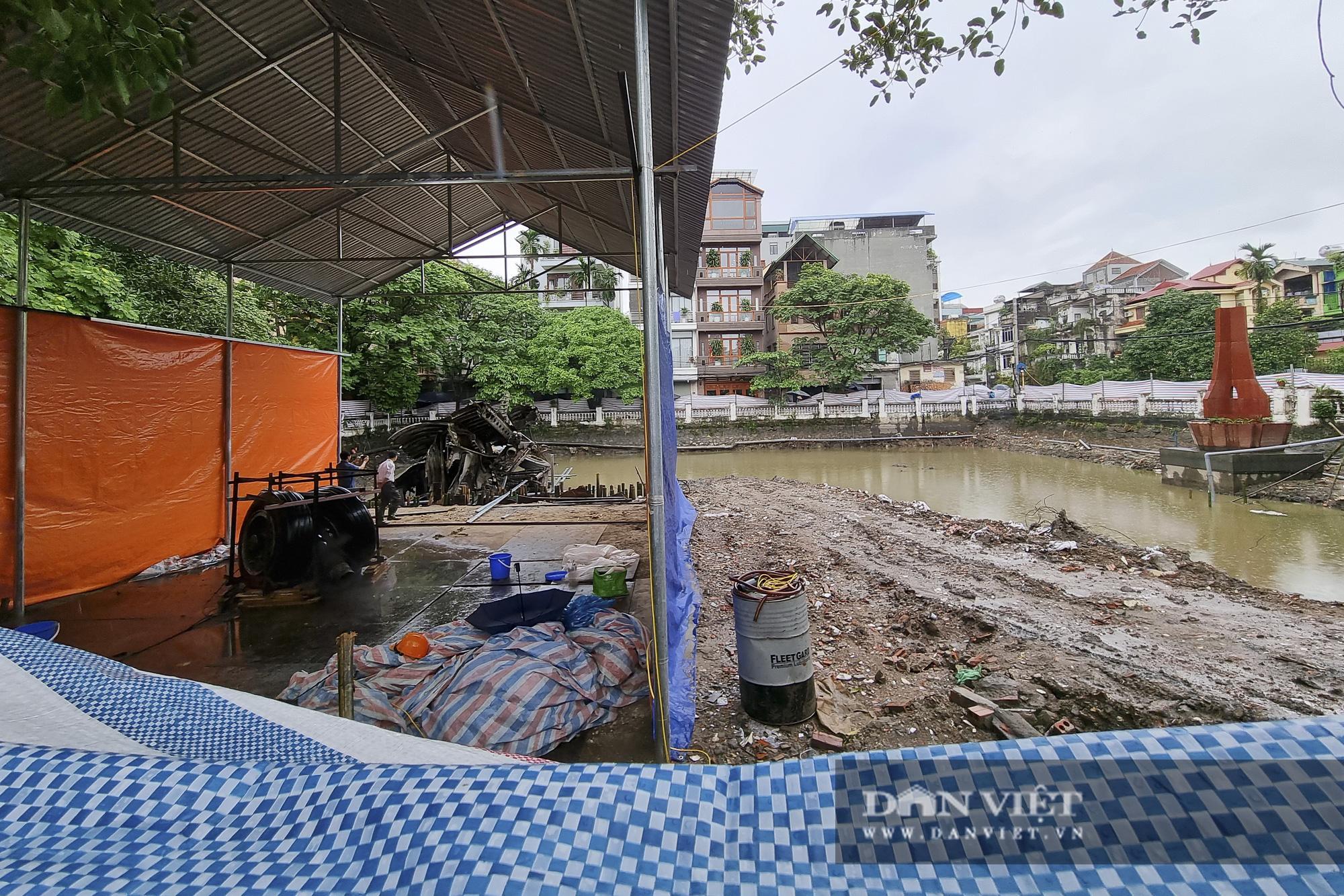 Hồ Hữu Tiệp, nơi xác máy bay B52 bị bắn rơi tại Hà Nội được tu bổ, tôn tạo - Ảnh 2.
