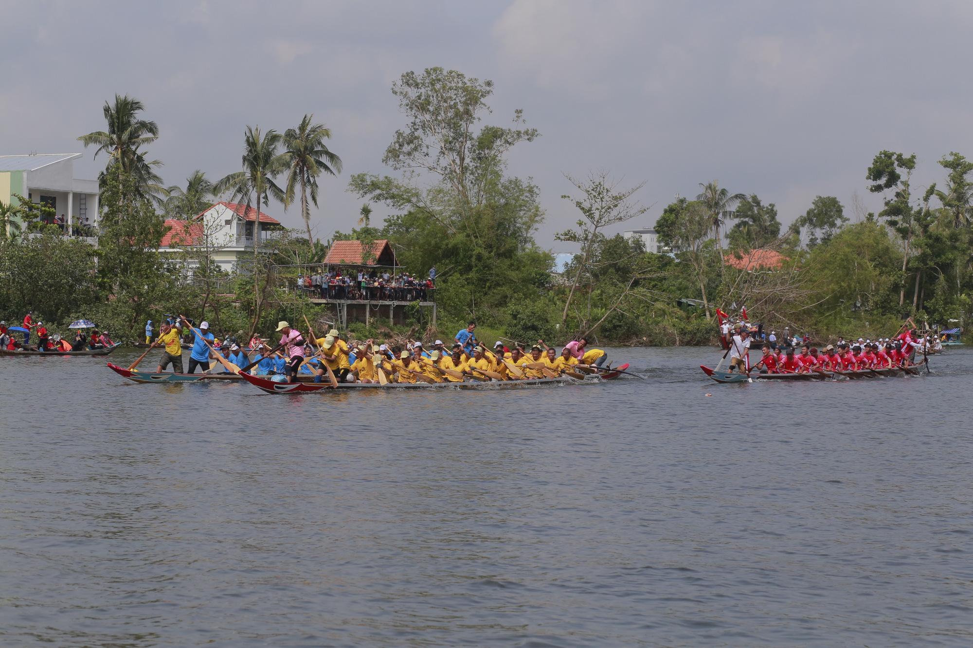 Quảng Nam: Trèo cây, leo nóc nhà để xem đua thuyền ở Tam Kỳ - Ảnh 8.