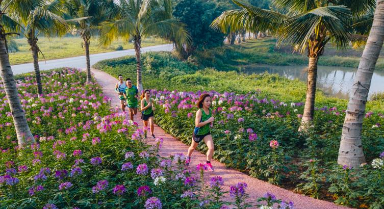 """Ecopark Marathon 2021 - Ngắm cung đường chạy giữa thiên nhiên """"siêu chất"""" trước giờ G - Ảnh 10."""