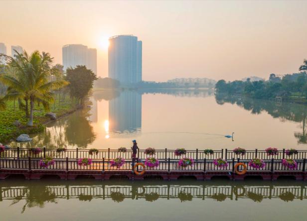 """Ecopark Marathon 2021 - Ngắm cung đường chạy giữa thiên nhiên """"siêu chất"""" trước giờ G - Ảnh 15."""