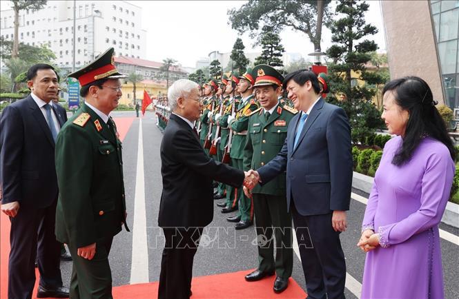 Ảnh: Tổng Bí thư dự Lễ kỷ niệm 70 năm Ngày truyền thống Bệnh viện 108 - Ảnh 2.