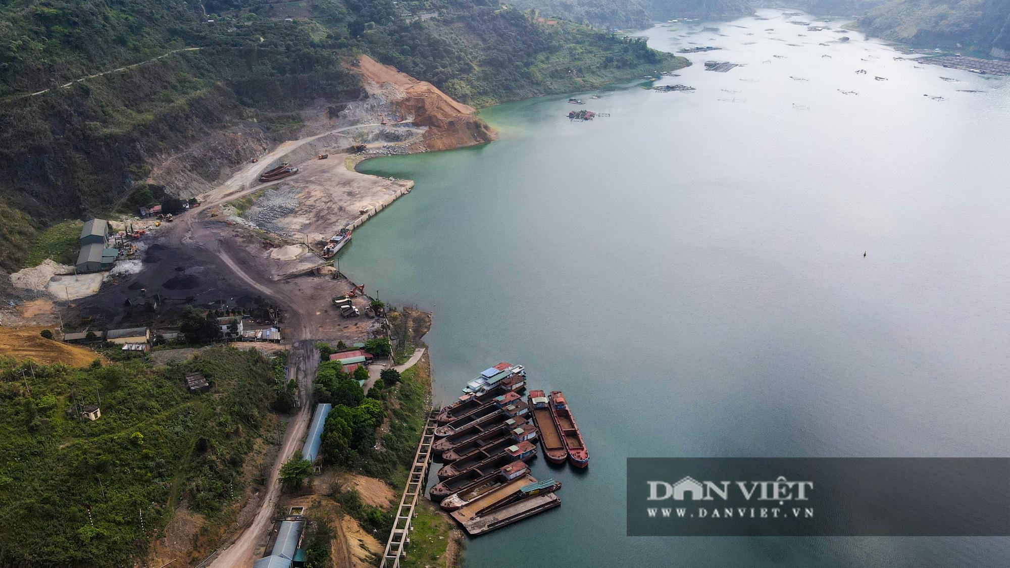 Công trình mở rộng nhà máy thuỷ điện Hoà Bình hơn 9000 tỷ nhìn từ trên cao  - Ảnh 8.