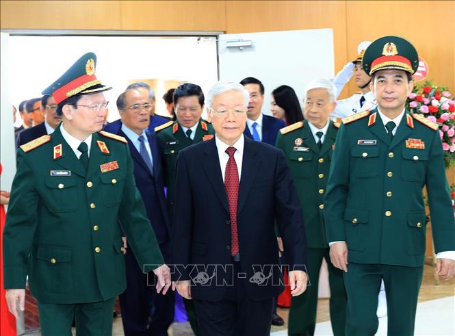 Ảnh: Tổng Bí thư dự Lễ kỷ niệm 70 năm Ngày truyền thống Bệnh viện 108 - Ảnh 5.