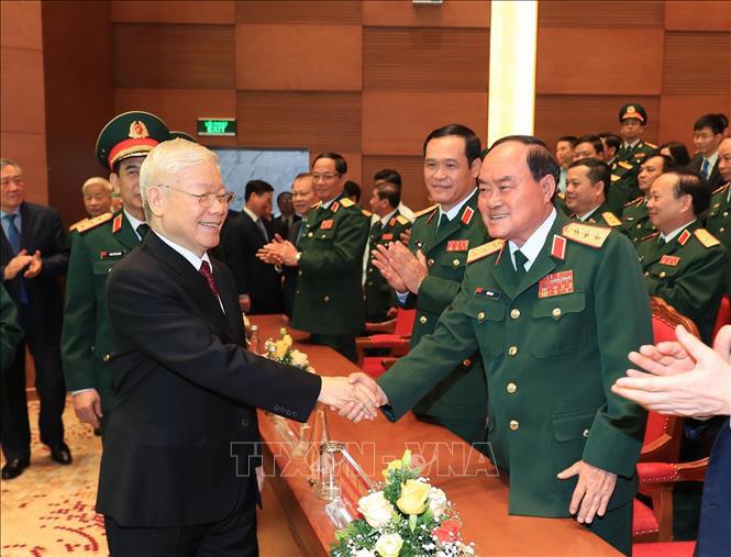 Ảnh: Tổng Bí thư dự Lễ kỷ niệm 70 năm Ngày truyền thống Bệnh viện 108 - Ảnh 6.