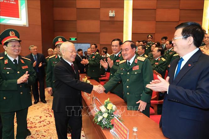 Ảnh: Tổng Bí thư dự Lễ kỷ niệm 70 năm Ngày truyền thống Bệnh viện 108 - Ảnh 7.