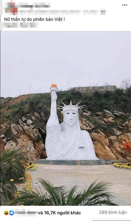 """Cư dân mạng cười rớt nước mắt với tượng Nữ thần tự do """"phiên bản lỗi"""" ở Sa Pa - Ảnh 1."""