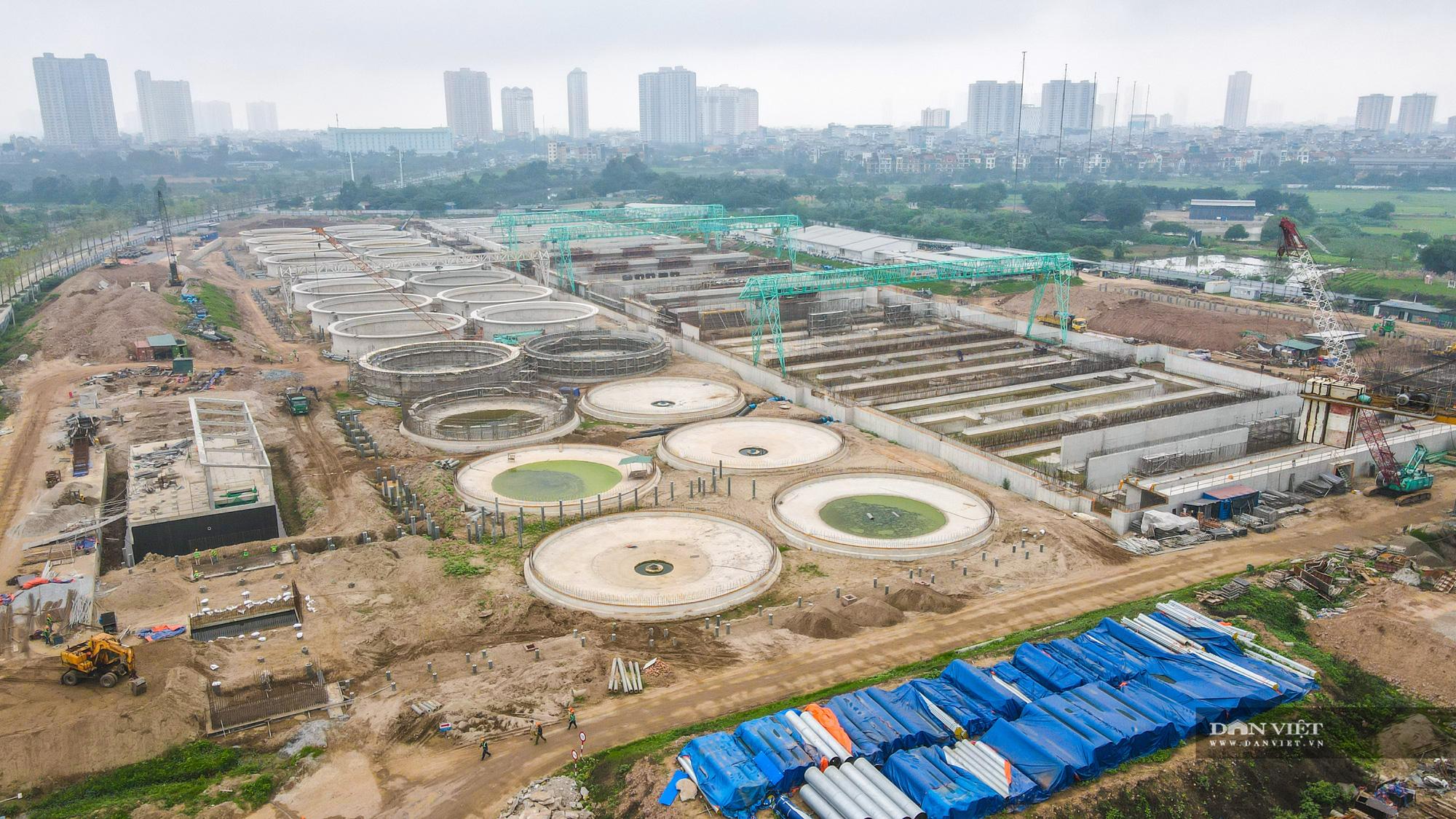 Toàn cảnh nhà máy xứ lý nước thải 16 000 tỷ lớn nhất miền Bắc - Ảnh 1.
