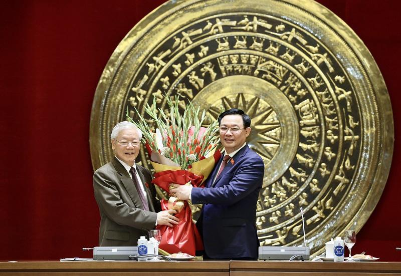 Ông Vương Đình Huệ chúc mừng Tổng Bí thư Nguyễn Phú Trọng hoàn thành xuất sắc nhiệm vụ Chủ tịch nước - Ảnh 1.