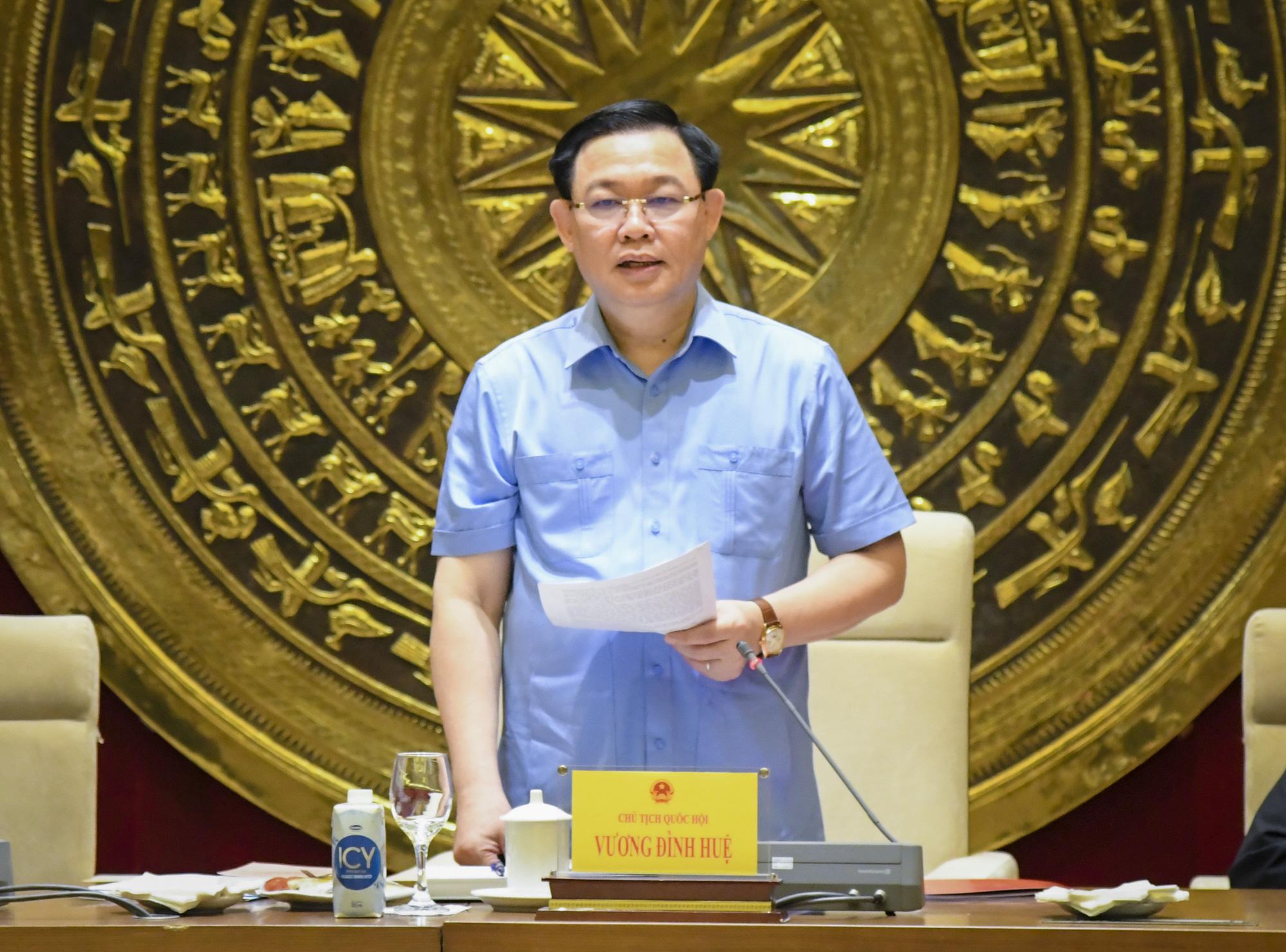 Ảnh: Chủ tịch Quốc hội Vương Đình Huệ làm việc với Hội đồng Dân tộc - Ảnh 4.