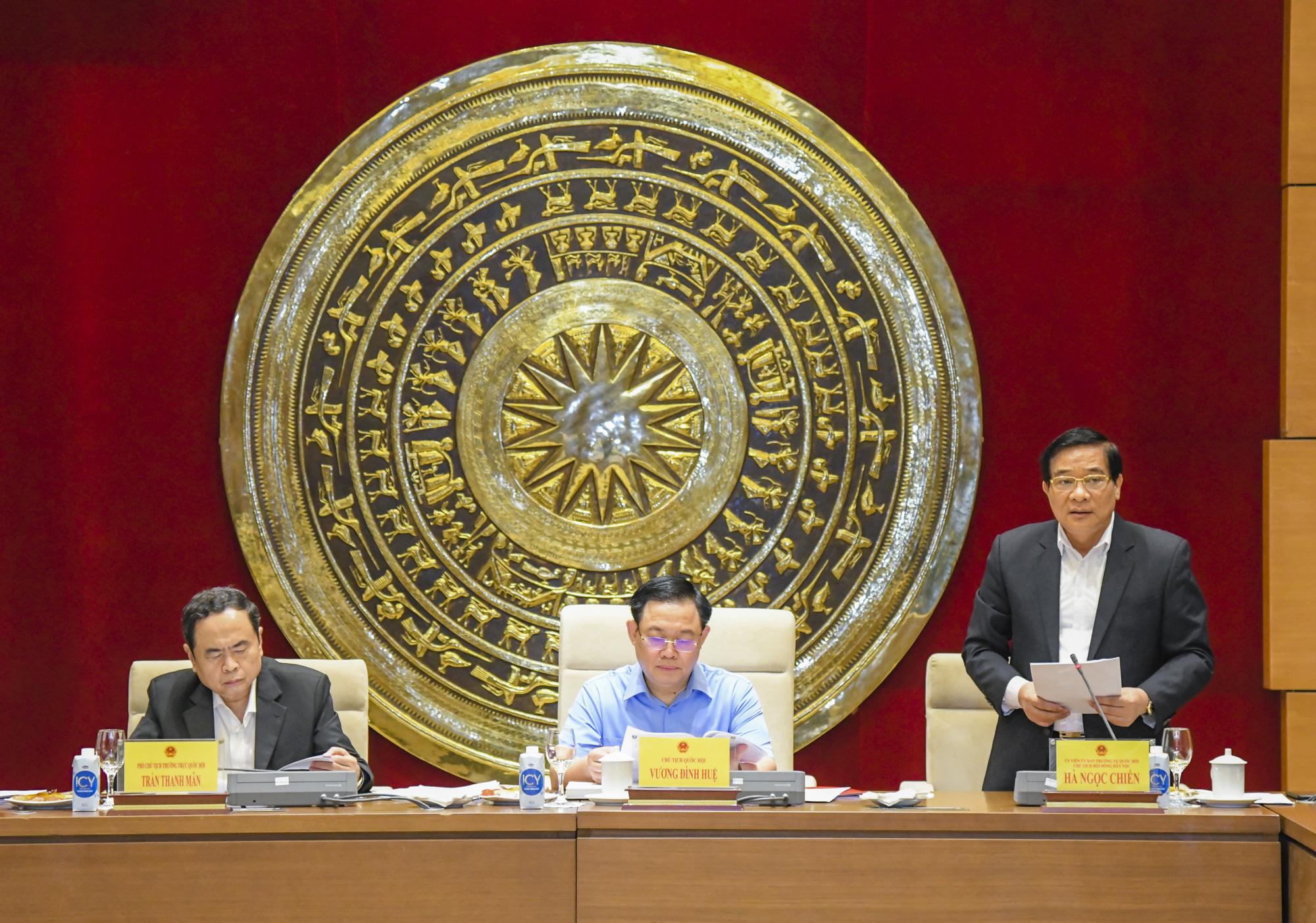 Ảnh: Chủ tịch Quốc hội Vương Đình Huệ làm việc với Hội đồng Dân tộc - Ảnh 7.