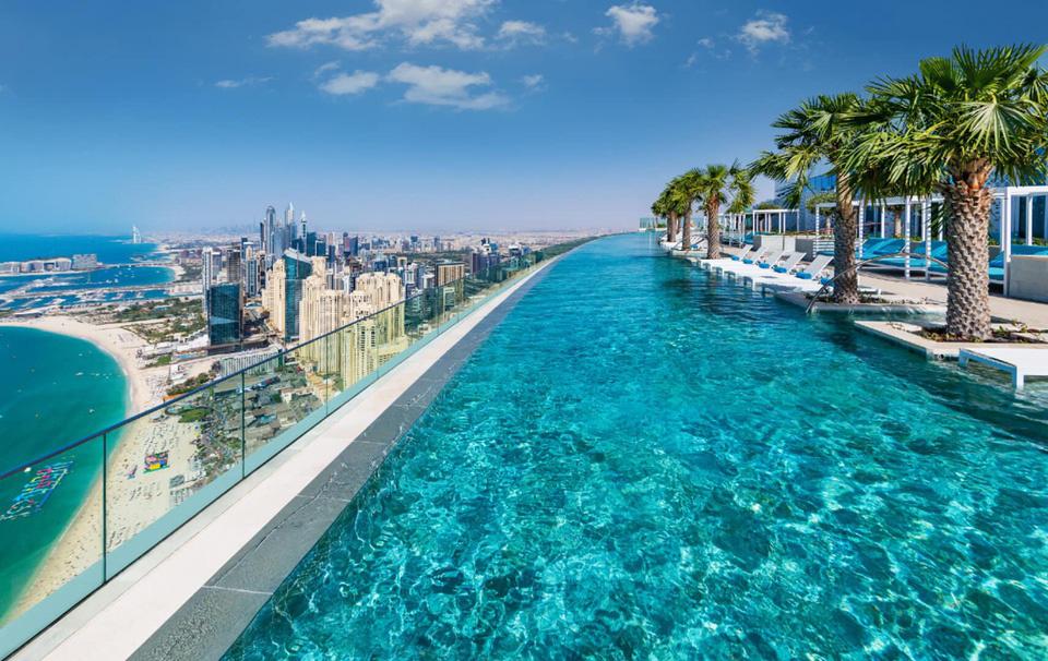 Chiêm ngưỡng bể bơi vô cực cao nhất thế giới ở Dubai - Ảnh 4.