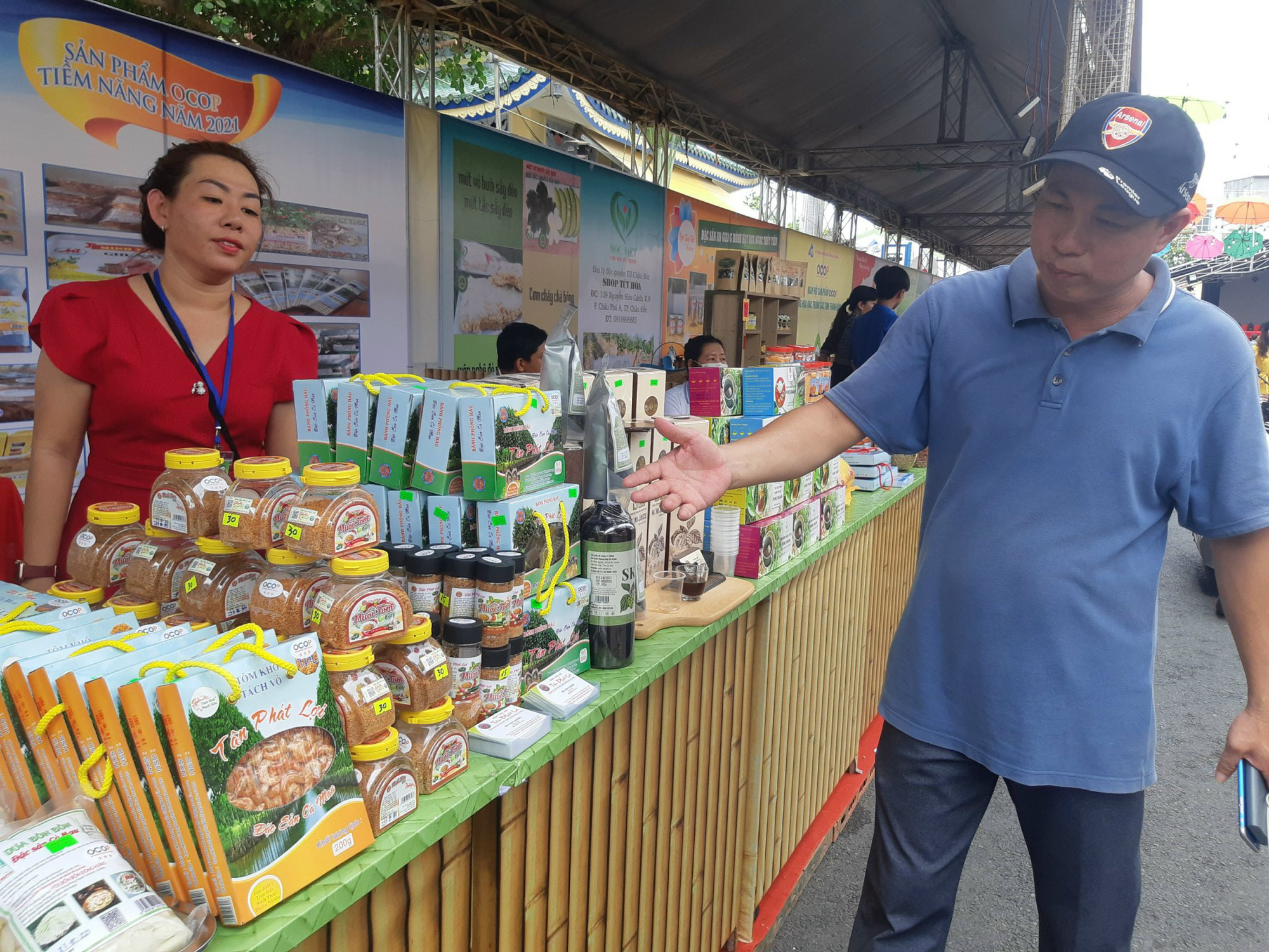 Sản phẩm OCOP 24 tỉnh, thành hội tụ tại Châu Đốc An Giang - Ảnh 14.