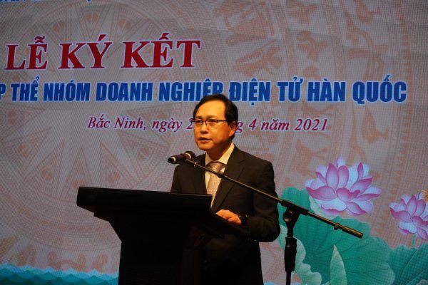 Bắc Ninh: 7 doanh nghiệp điện tử Hàn Quốc với gần 80 ngàn lao động ký kết thỏa ước lao động tập thể - Ảnh 2.