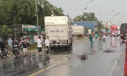 Kinh hoàng xe tải tông trực diện 2 xe máy, 2 người chết thương tâm - Ảnh 1.