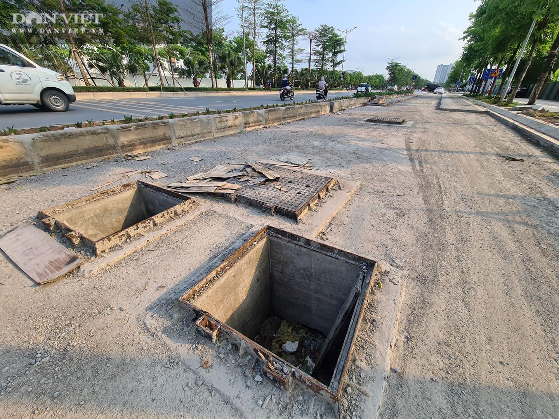 Mặt đường dự án BT 'đại lộ nghìn tỉ' Chu Văn An bị đào xới nham nhở - Ảnh 6.