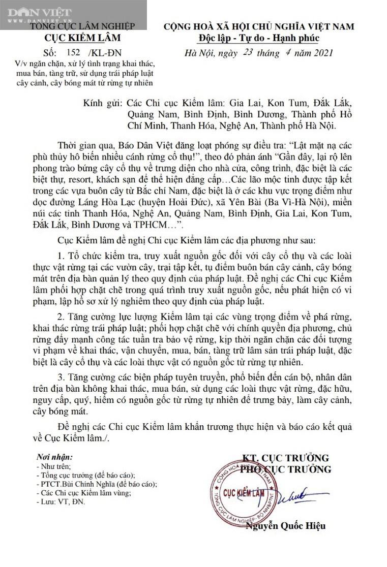 Cục Kiểm lâm đề nghị Chi cục kiểm lâm kiểm tra, xử lý thông tin Dân Việt phản ánh - Ảnh 2.