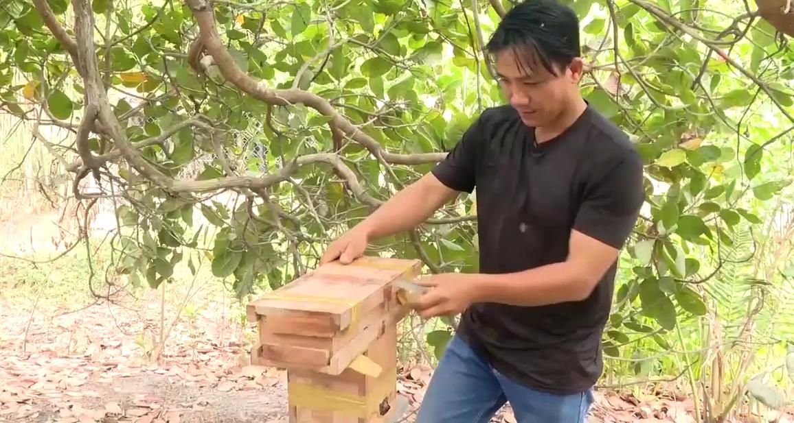 """Bà Rịa-Vũng Tàu: Vô tình nuôi đàn ong lấy nước bọt biến phấn hoa thành mật đắc như vàng, anh nông dân ôm """"kho báu"""" - Ảnh 2."""