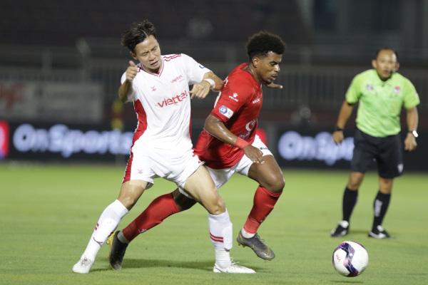 CLB TP.HCM đã cầm hòa Viettel FC 1-1 trong trận đấu ở vòng 11 V.League 2021. Ảnh: 24h
