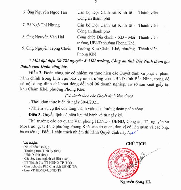 Bắc Ninh: Khẩn cấp lập đoàn công tác thực hiện xử phạt tiền tỷ, đình chỉ 6 cơ sở sản xuất giấy ở Phong Khê - Ảnh 3.