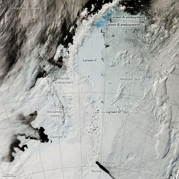 Thềm băng lớn thứ tư ở Nam Cực sẽ sớm bị sụp đổ - Ảnh 1.