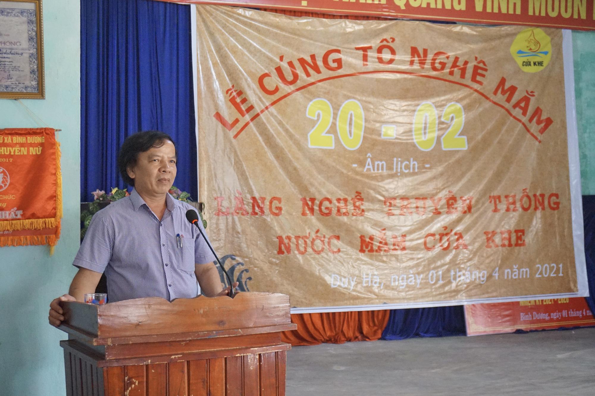 Quảng Nam: Làng Cửa Khe tổ chức lễ cúng tổ nghề mắm - Ảnh 4.