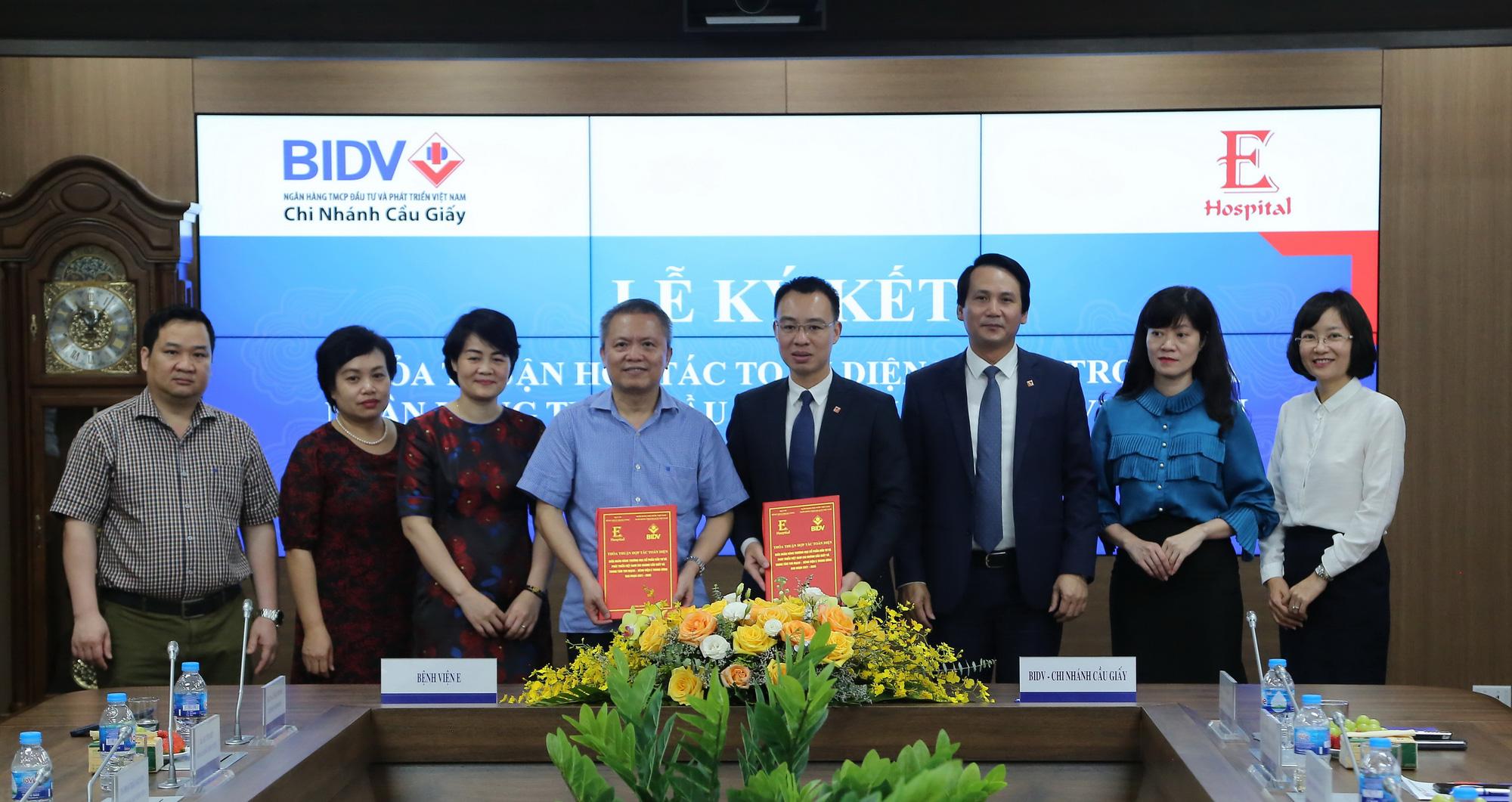 BIDV Cầu Giấy hợp tác toàn diện với Bệnh viện E Trung ương - Ảnh 1.
