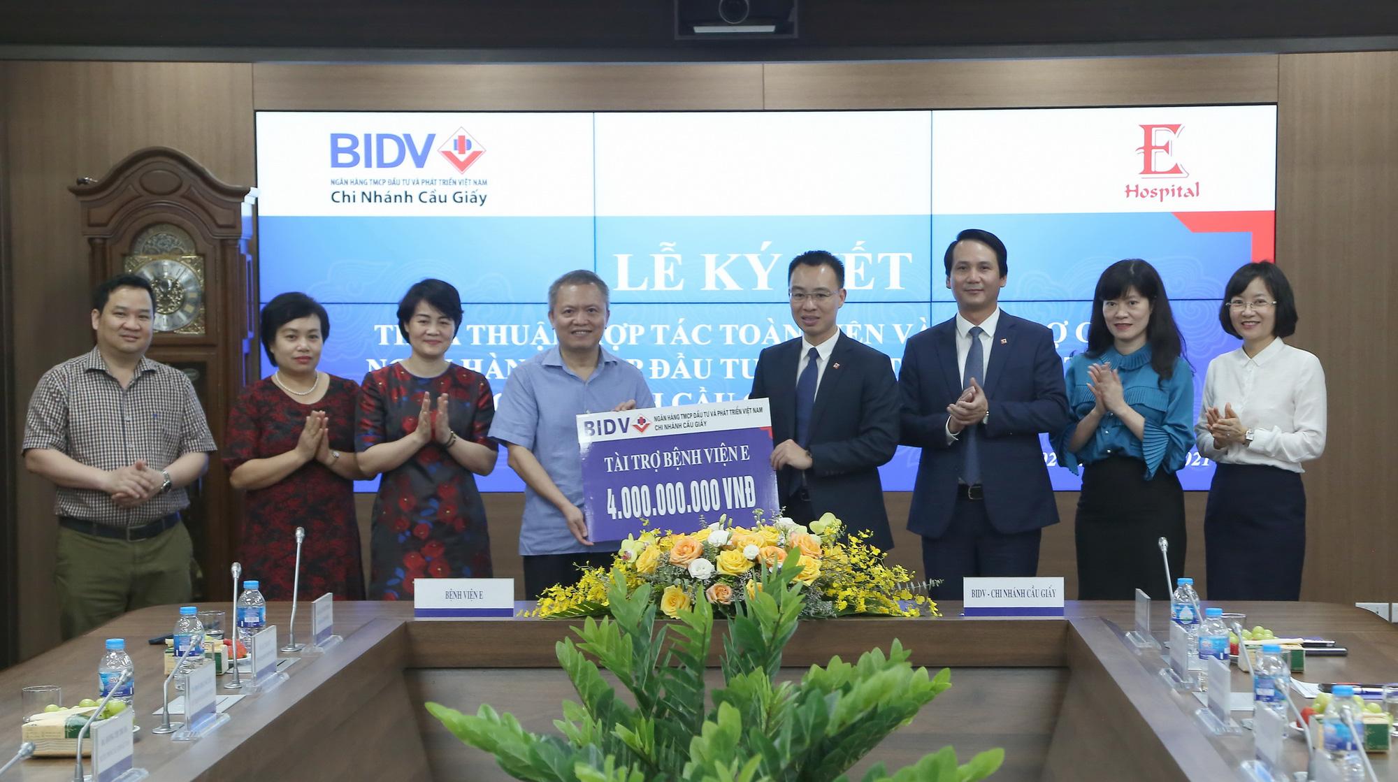 BIDV Cầu Giấy hợp tác toàn diện với Bệnh viện E Trung ương - Ảnh 2.