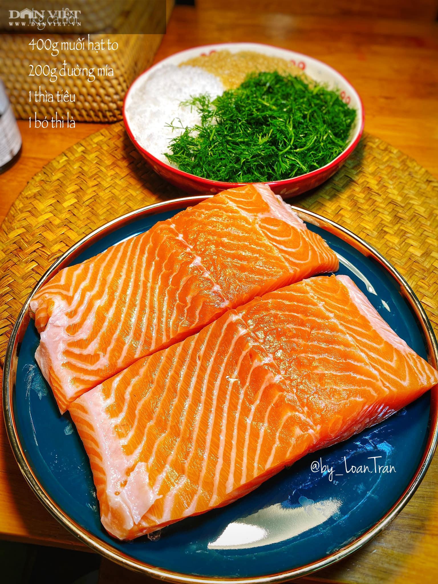 Lạ miệng với món cá hồi muối - Ảnh 2.