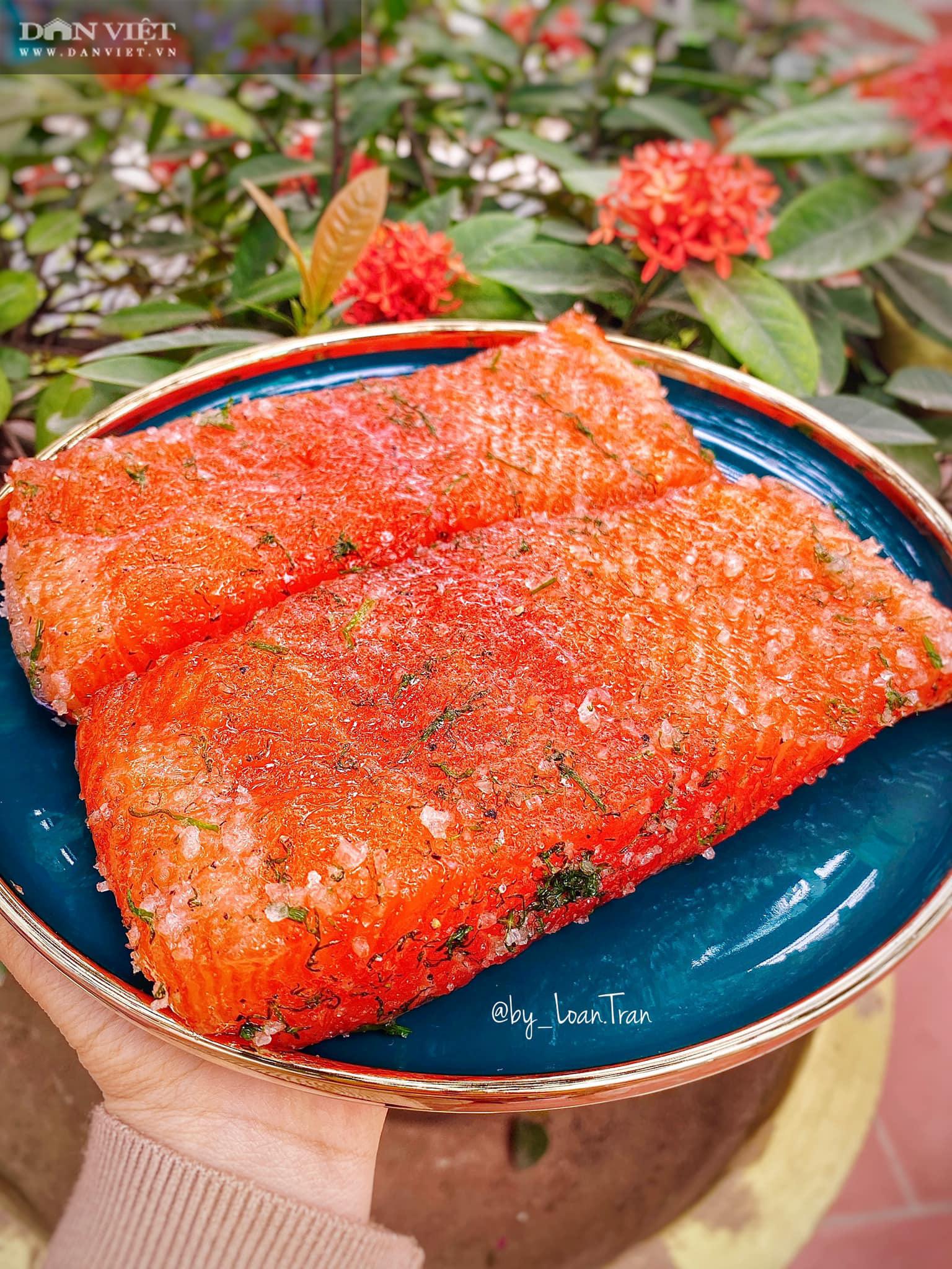 Lạ miệng với món cá hồi muối - Ảnh 9.