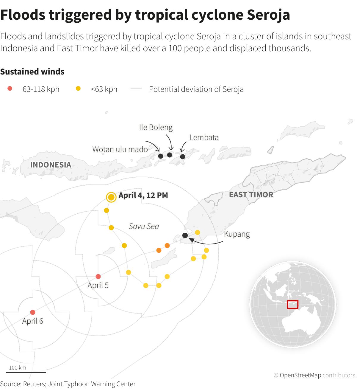 Lực lượng cứu hộ truy tìm những người còn sống sót sau trận lốc xoáy kinh hoàng ở Indonesia - Ảnh 2.