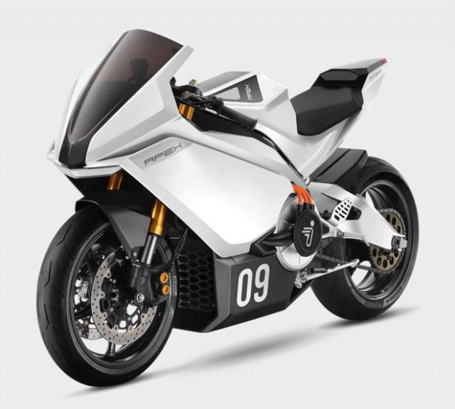 """Xe mô tô điện Trung Quốc """"nhái"""" huyền thoại Aprilia RS125, thông số khó tin, giá bán đắt đỏ - Ảnh 3."""