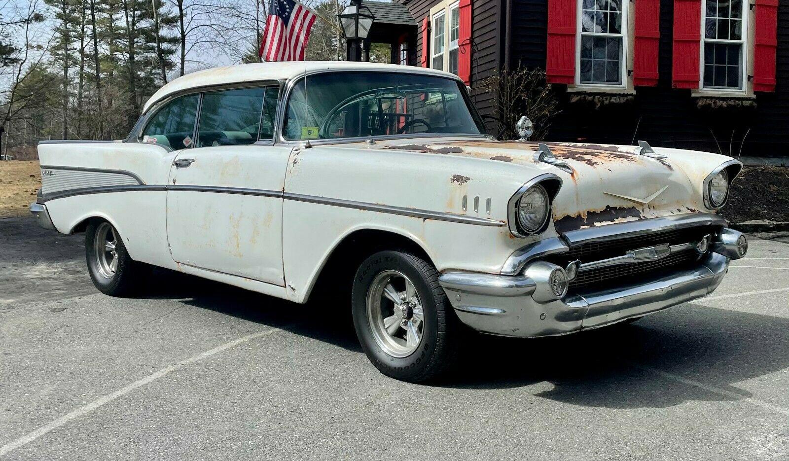 Chevrolet Bel Air 1957 tìm thấy trong nhà kho bỏ hoang sau nhiều thập kỷ, động cơ V8 chạy ngon lành - Ảnh 2.