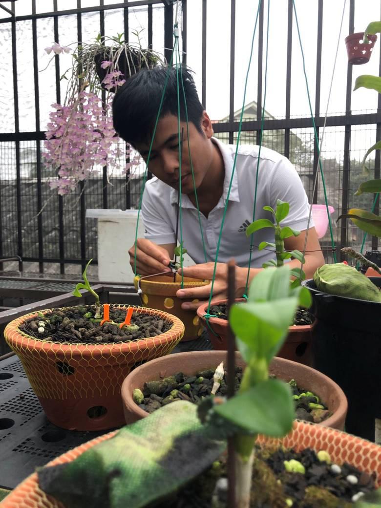 """Nghệ nhân trồng lan Tạ Văn Hiệp: """"Cây lan lớn lên chỉ bằng tình yêu thực sự - Ảnh 2."""