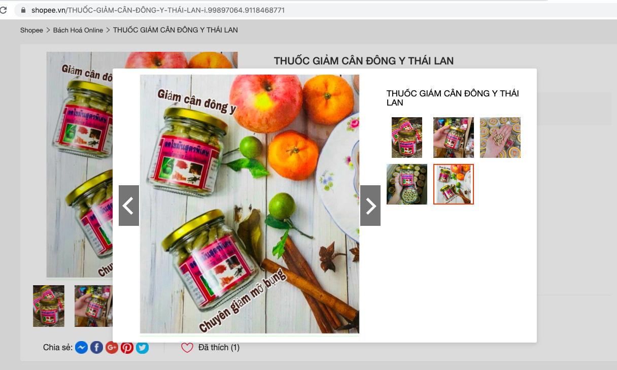 Thuốc giảm cân, nước hoa kích dục ngang nhiên rao bán trên chợ điện tử Shopee, Lazada - Ảnh 3.